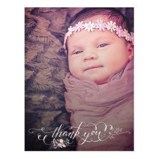 O sorvo do bebé & vê o obrigado você anúncio do cartão postal