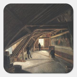 O sótão de um museu adesivos quadrados