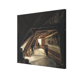 O sótão de um museu impressão de canvas esticadas