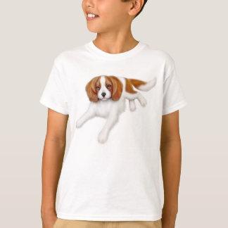 O Spaniel de rei Charles descuidado caçoa o T-shirts