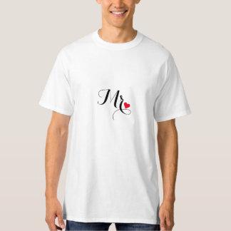 O Sr. Preparação Casamento Newlywed Marido acopla Tshirt