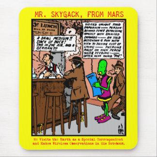 O Sr. Skygack visita um comensal Mouse Pad