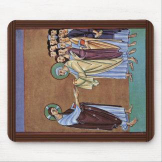 O St Peter que recebe as chaves pelo Pe do DES de  Mouse Pad