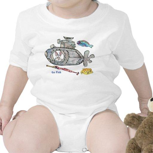 O submarino engraçado dos desenhos animados pesca  tshirt