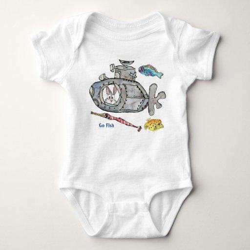 O submarino engraçado dos desenhos animados pesca t-shirts