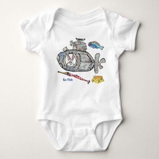 O submarino engraçado dos desenhos animados pesca tshirts