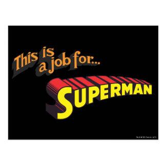 O superman | isto é um trabalho para… Logotipo Cartão Postal