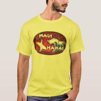 O surfista amarelo de Maui Havaí acena o T das Camiseta
