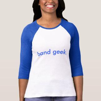 O T das mulheres do comprimento do geek 3/4 da T-shirt