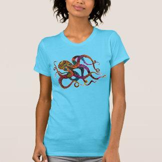 O T das mulheres elétricas do polvo T-shirt
