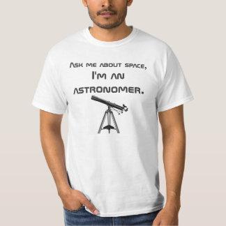 O T do astrónomo Tshirt