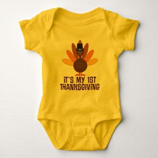 ø T do bebê do peregrino de Turquia da acção de Camiseta