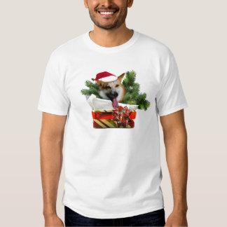 O T dos homens do Corgi do feriado T-shirt