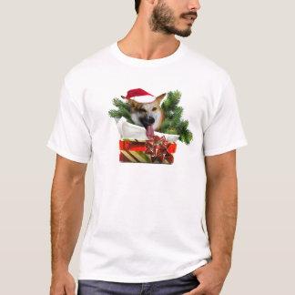 O T dos homens do Corgi do feriado Tshirt