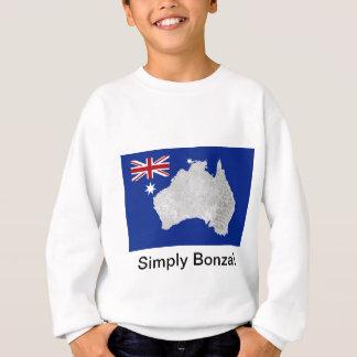 O t-shirt adolescente australiano do miúdo da