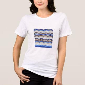 O t-shirt apto relaxado das mulheres azuis do