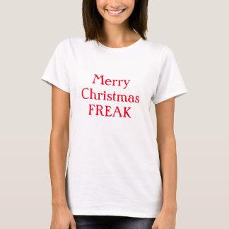 O t-shirt ARREPIANTE das mulheres do Feliz Natal