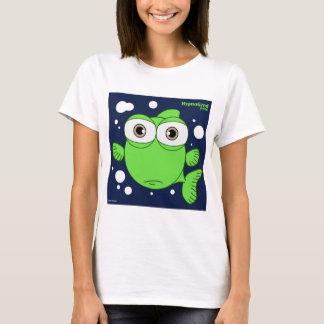 O t-shirt básico das mulheres verdes dos peixes