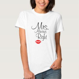 O t-shirt básico de Mulher da Sra. Sempre Direito