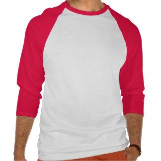 O t-shirt da luva do Raglan 3/4 dos homens com