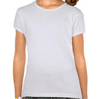 O t-shirt da menina com Ernie o pug confortável na