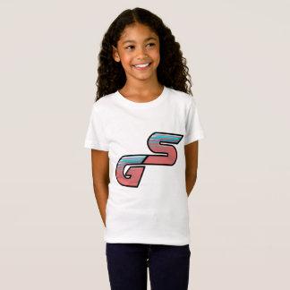 O t-shirt da menina do logotipo do SG