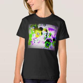 O t-shirt das meninas das violetas