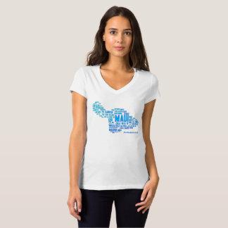 O t-shirt das mulheres da nuvem da palavra de Maui