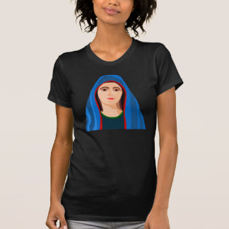 O t-shirt das mulheres da Virgem Maria