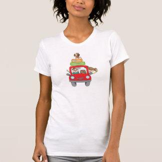 O t-shirt das mulheres do feriado da família