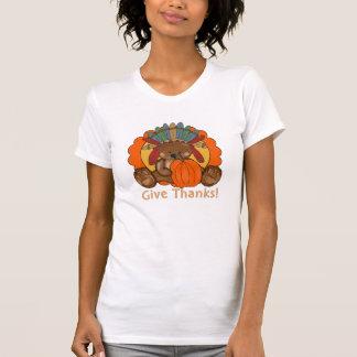 O t-shirt das mulheres do feriado do urso da acção