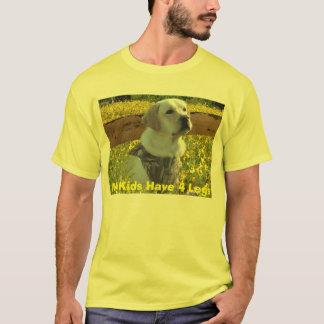 O t-shirt de labrador retriever meus miúdos tem 4
