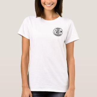 O t-shirt desonesto das mulheres do guerreiro