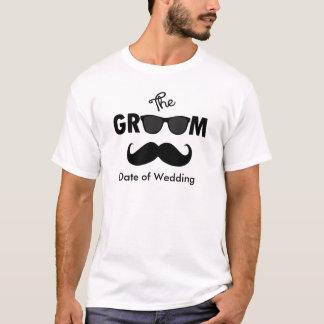 O t-shirt do casamento do noivo