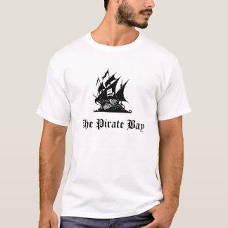 O t-shirt do LOGOTIPO da baía do pirata