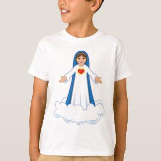 O t-shirt do miúdo da Virgem Maria