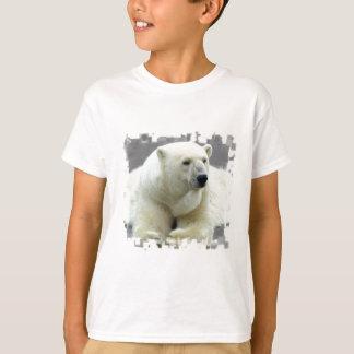 O t-shirt do miúdo do urso polar