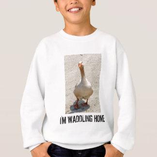 O t-shirt do miúdo Waddling do ganso