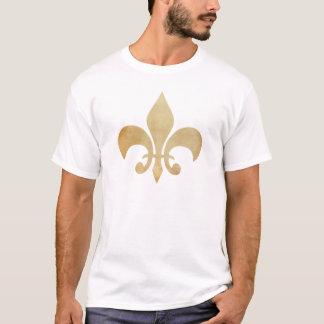 O t-shirt dos homens afligidos da flor de lis do