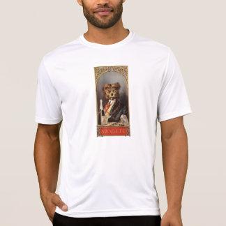 O t-shirt dos homens do cão do elógio