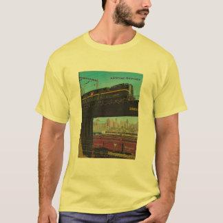 O t-shirt dos homens do informe anual da estrada