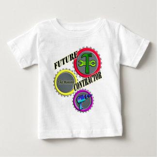 O t-shirt dos miúdos futuros do contratante