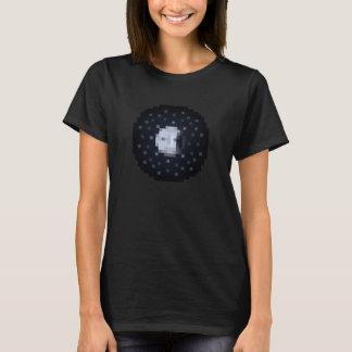 O t-shirt preto das mulheres da ascensão da lua do