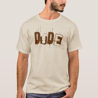 O t-shirt retro dos homens do gajo (luz)