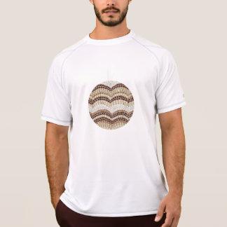 O t-shirt seco dobro dos homens bege do mosaico