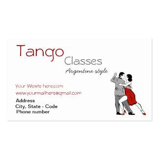 O tango feito sob encomenda classifica o cartão de modelo cartoes de visitas