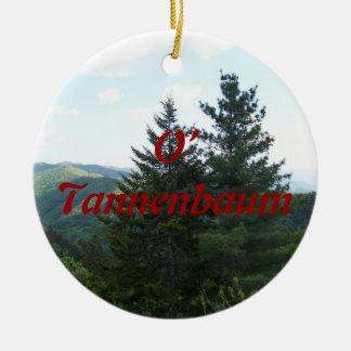 O' Tannenbaum Ornamento De Cerâmica Redondo