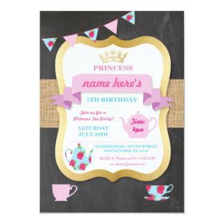 O tea party convida a princesa Coroa Alice Convite 12.7 X 17.78cm