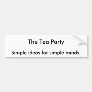 O tea party, ideias simples para mentes simples adesivo para carro
