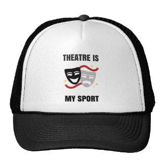 O teatro é meu chapéu do esporte - geek do drama boné